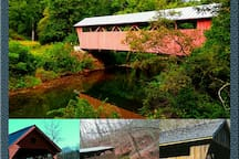4 covered bridges between 2.5 to 28 miles from our home