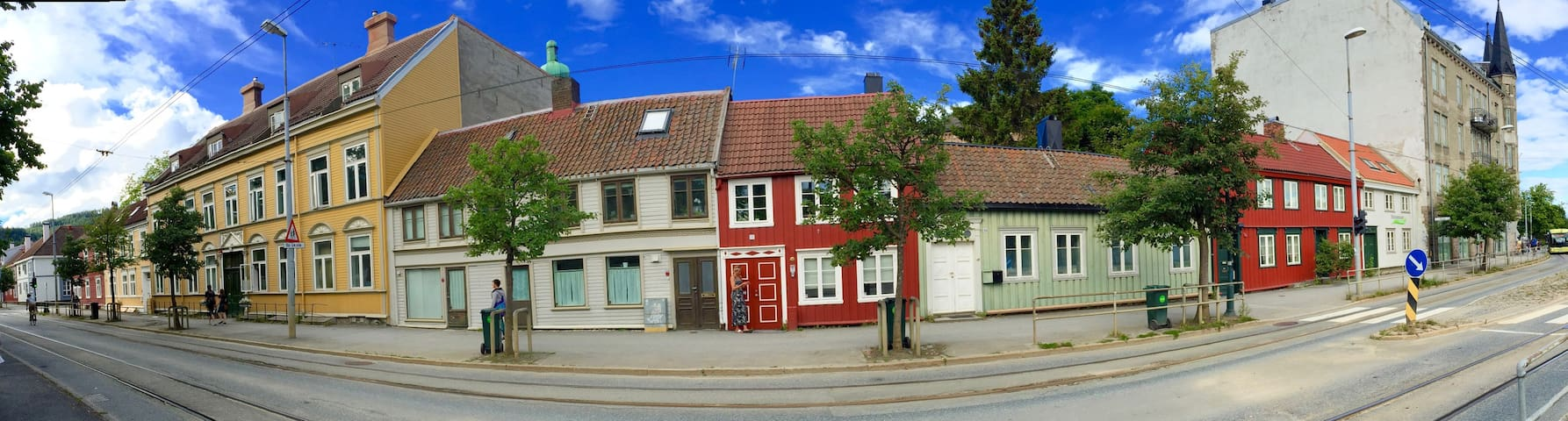 """Little red house"" close to city center - Trondheim - Rumah"
