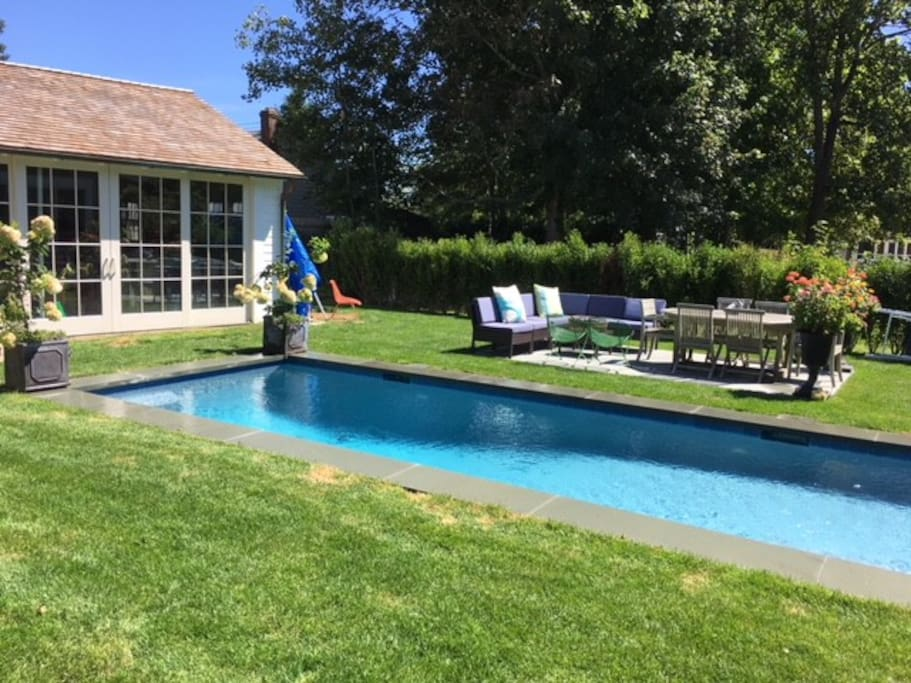 Southampton village home with beautiful private pool and gardens