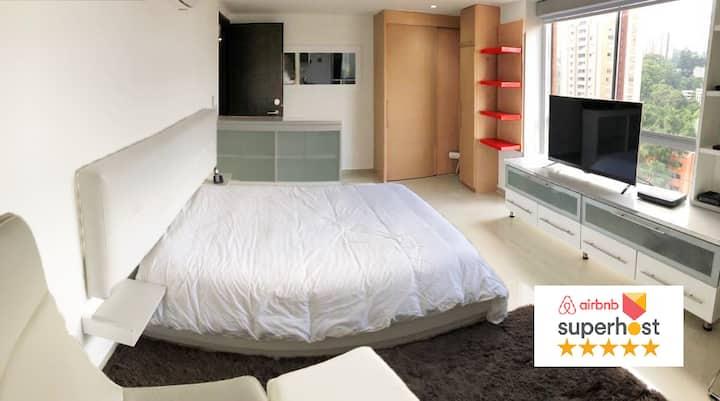 Hotel Mio Lofts✪ Poblado View A/C Netflix✪ XIV