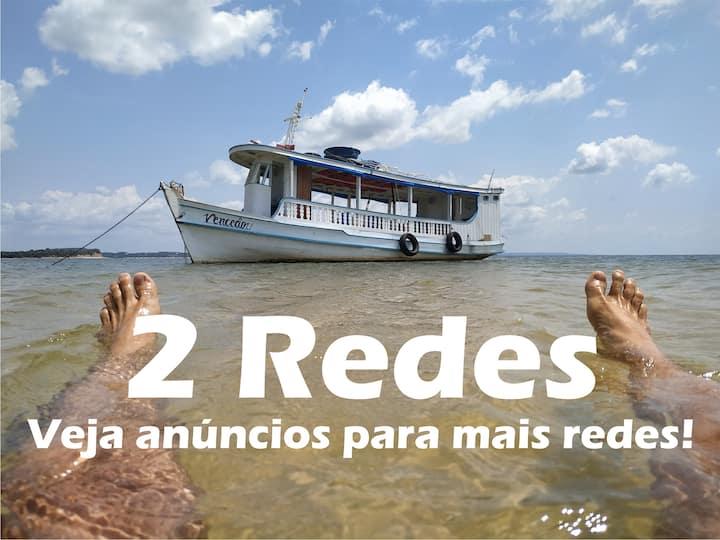 Viver Embarcado + Diária Compl + Passeio ∆ 2 Redes