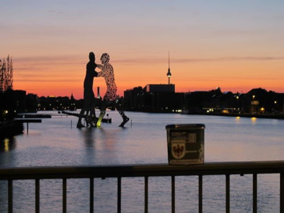 """river spree with the """"atomic man"""" next by"""