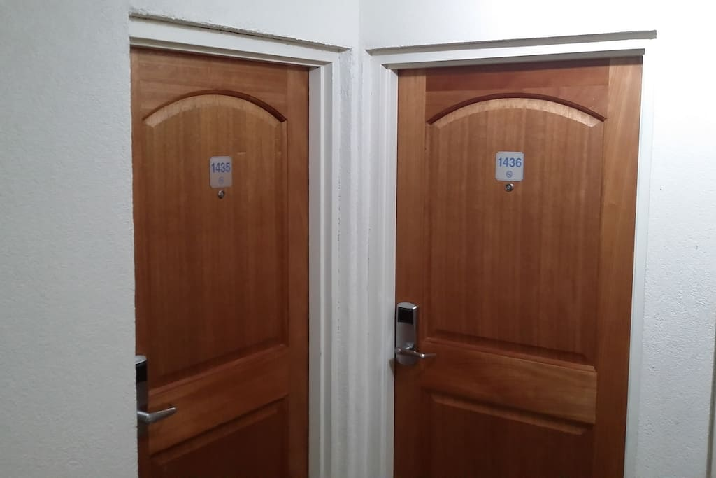 Doors to the units