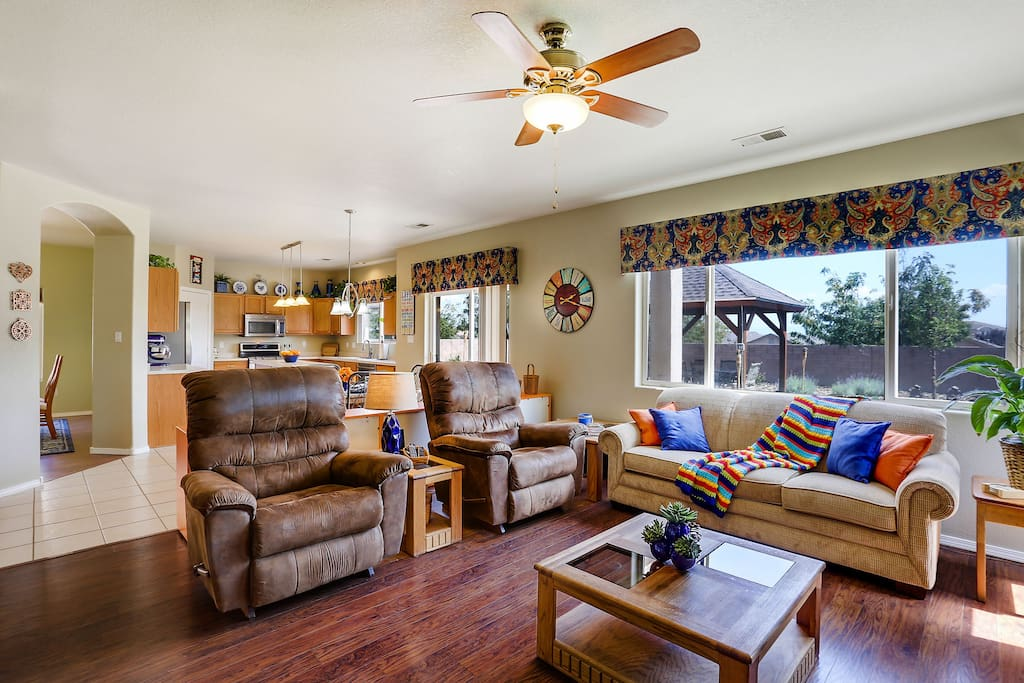 Family room with large La-Z-Boy recliners