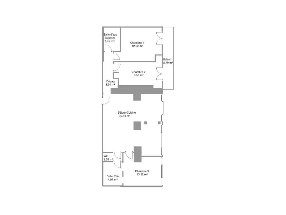 Plan appartement Rouge Canneberge