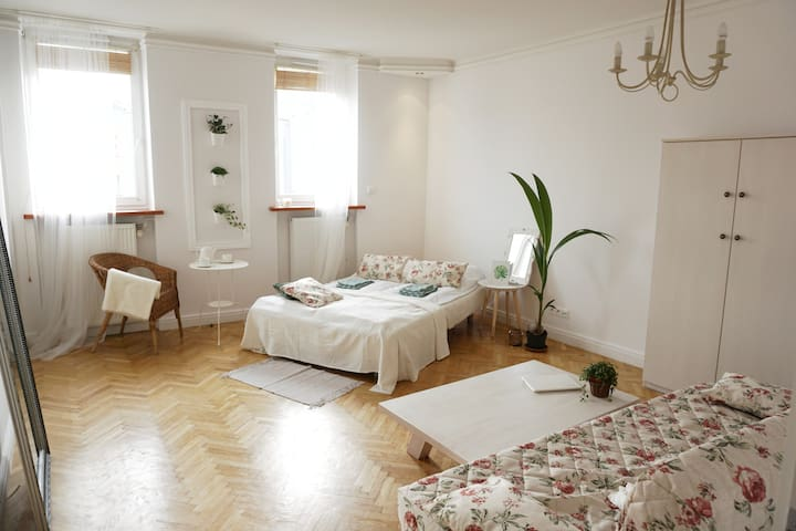 Nature Home - central Warsaw, large private room