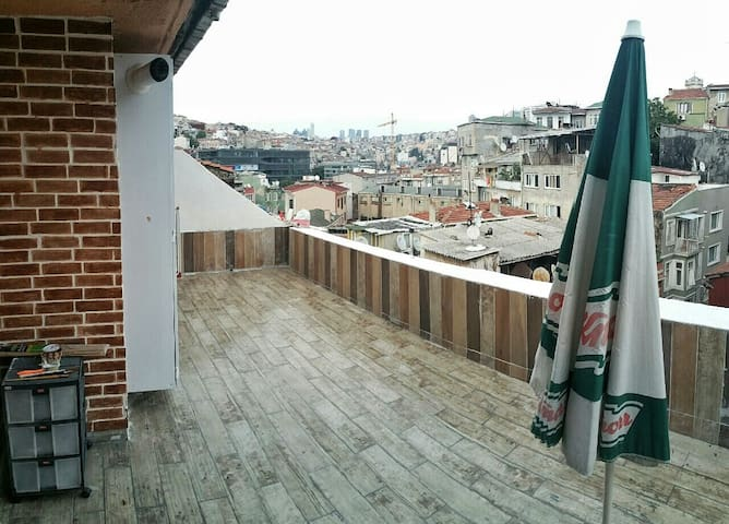 Terrace and the view