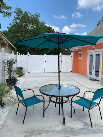 Enjoy  the beautiful Florida weather while barbecuing in  the private, and serene patio.