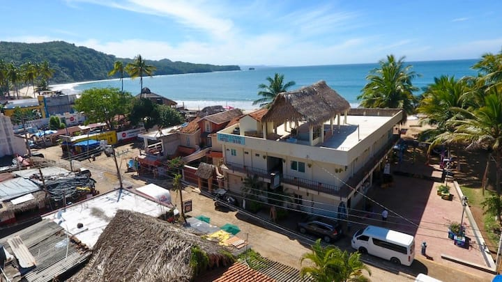 Beach front penthouse at Casa Cusi bnb in chacala