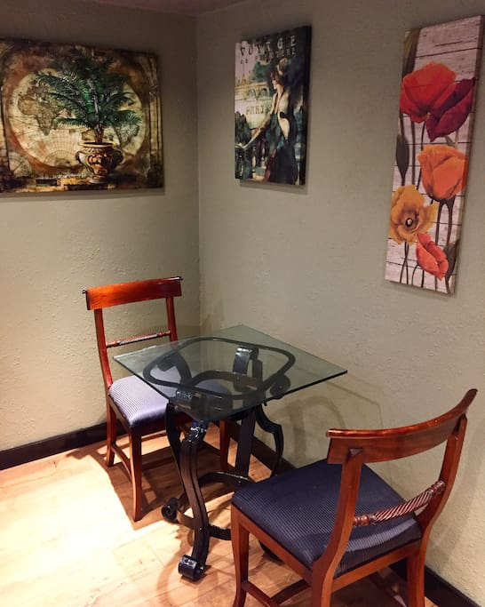 Table for two (: you have access to our cafe next door if you need more room for paperwork!