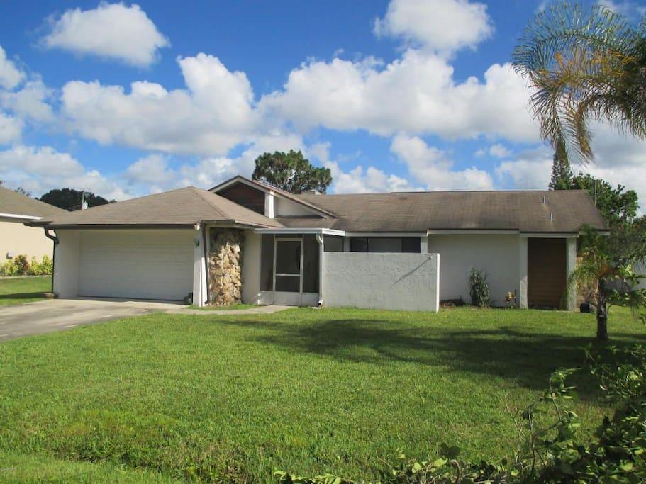 House located in quiet neighborhood