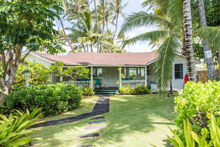 Inquire for Discounts-Beachfront Hawaiian Cottage