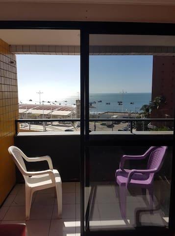 Apartamento aconchegante com vista pra o mar