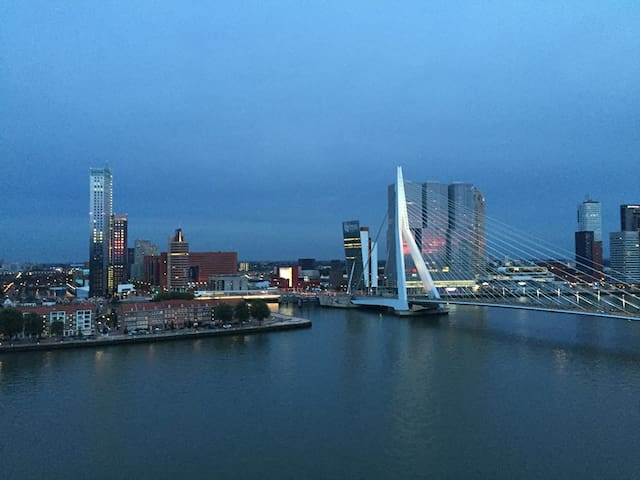 Renovated+City center+Amazing view Erasmusbridge - Rotterdam - Byt