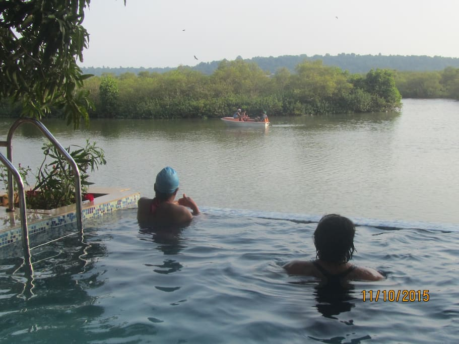 Guests swimming
