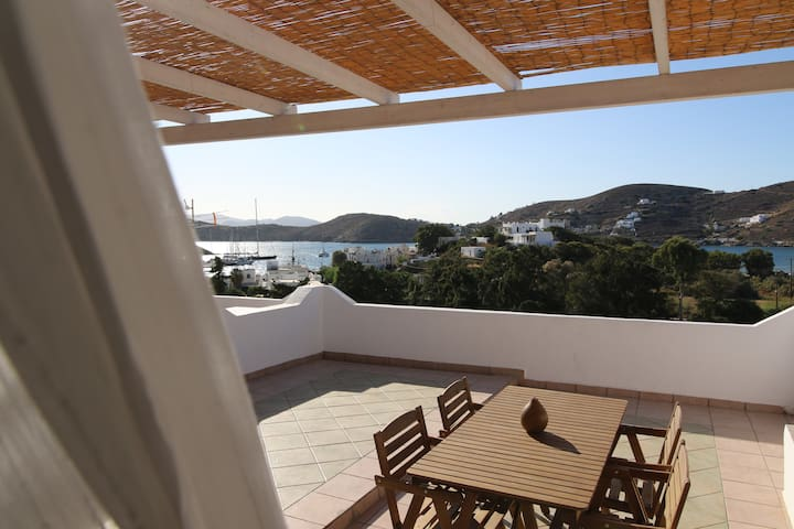 big terrace with amazing views of the sea