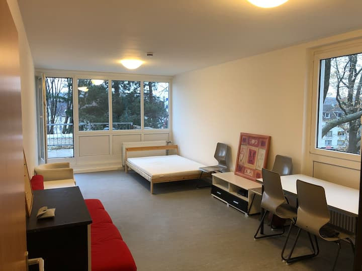 A big room with balcony and a small room in Aachen