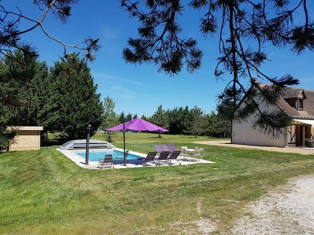 Lodge de la Sapinière, piscine, pêche, tennis