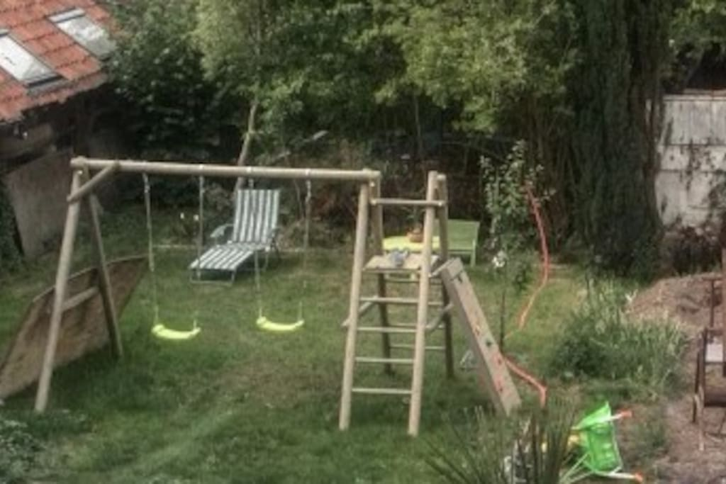The garden is still being renovated.