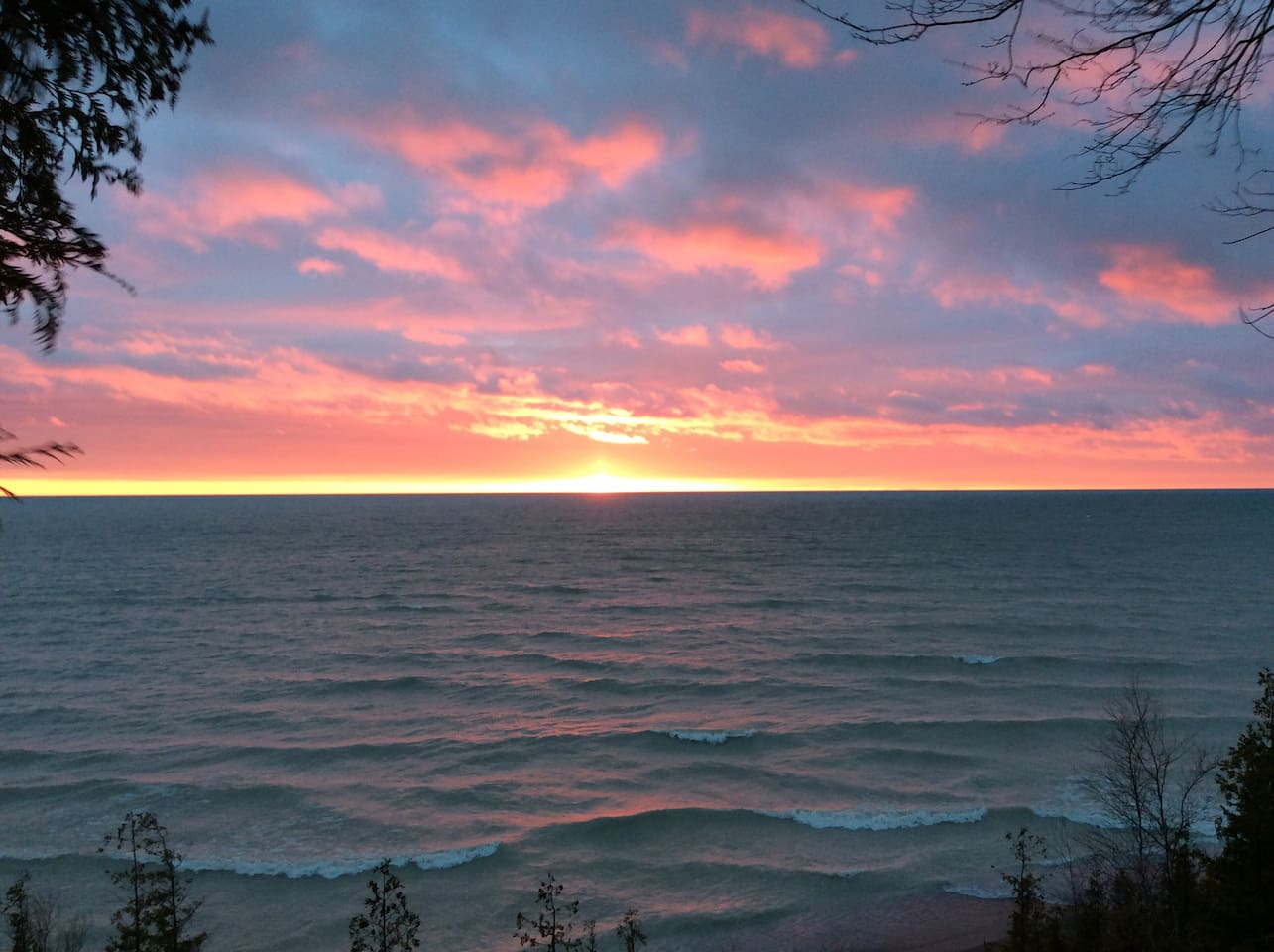 One of the spectacular Lake Huron sunsets!