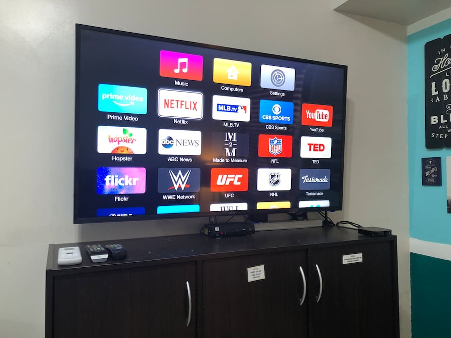 50-inch TV with NETFLIX and Youtube via Apple TV