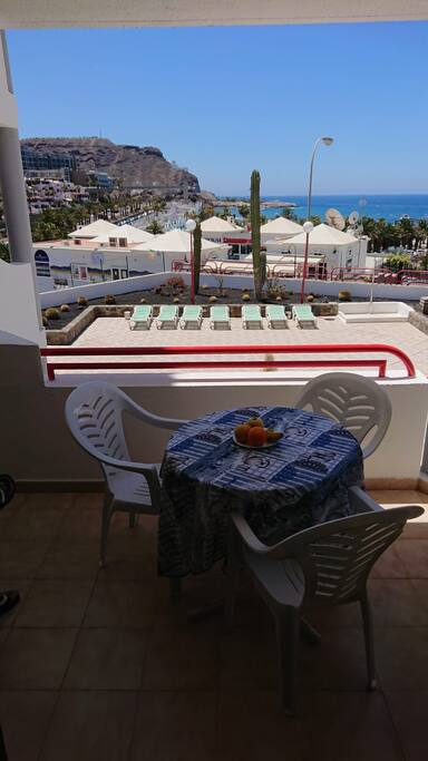 terraza vista mar