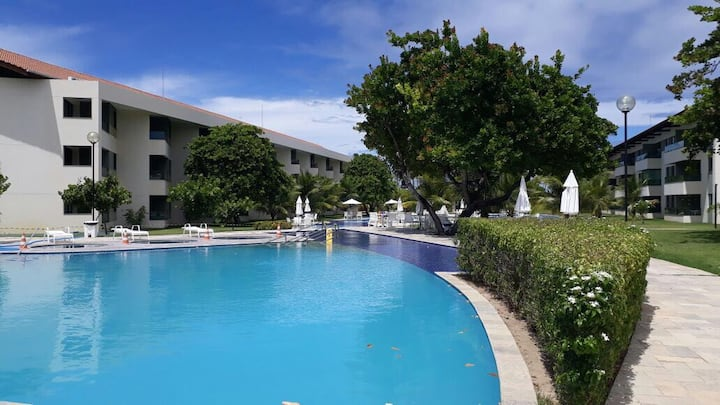Lindo Flat no Carneiros Beach Resort