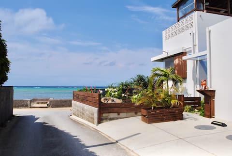 ★海灘近在咫尺★七月新開張★建築工程剛完工★全新的海濱小別墅!BBQ器材免費出借中!