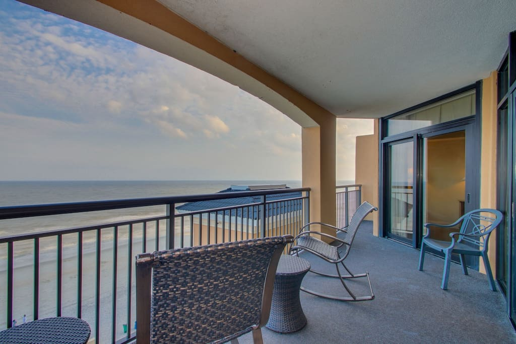 Southern View from the Oceanfront Balcony