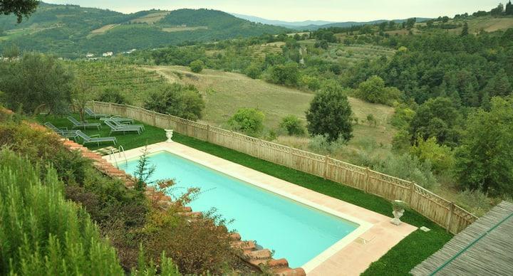 Magnifica Villa con piscina nella campagna toscana