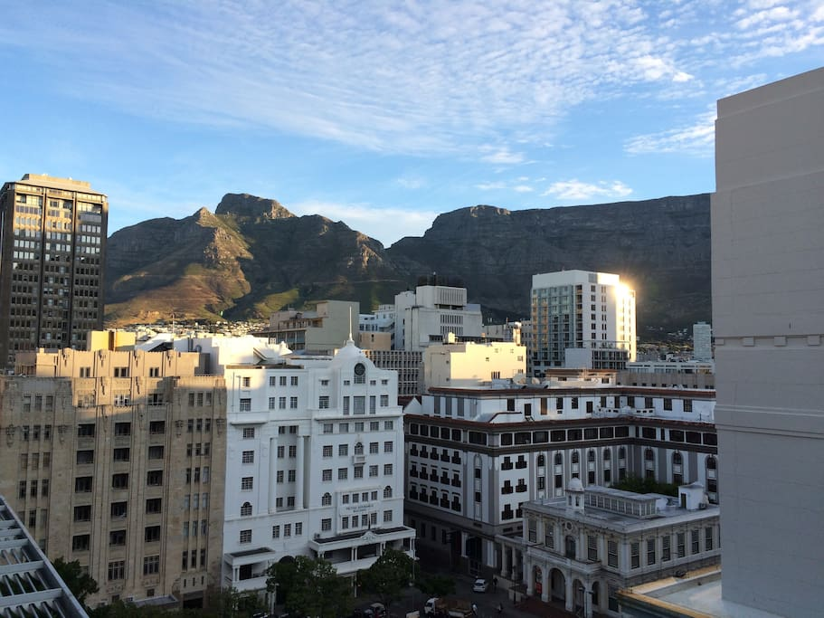 Stunning views of Table Mountain and the heart of the city.