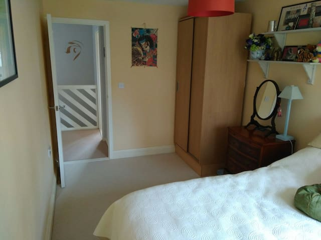 Spacious bedroom (10sqm) with incredibly comfortable double bed