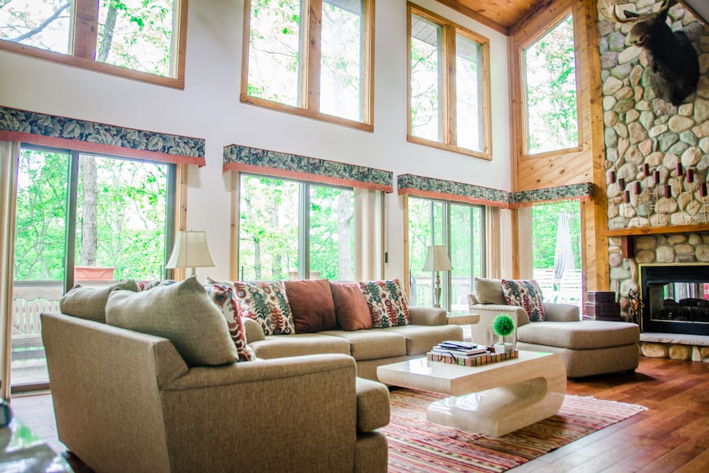 High Vaulted Ceilings with plenty of lights
