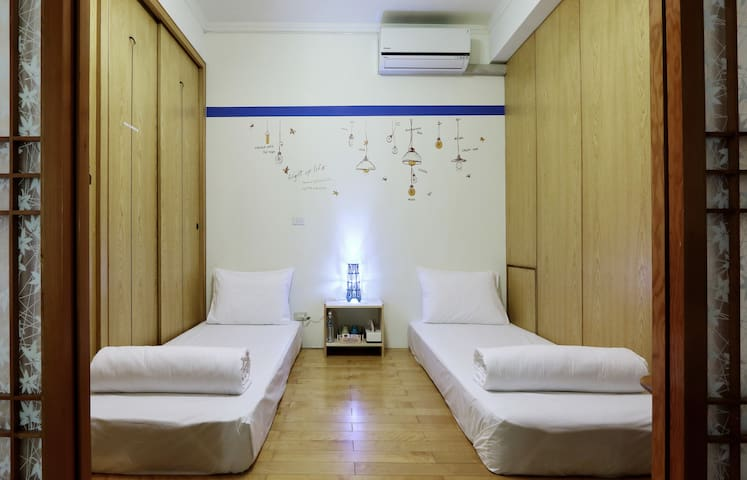 No. 4 Guest House (雙人房-雙床) - Taoyuan District - Huis