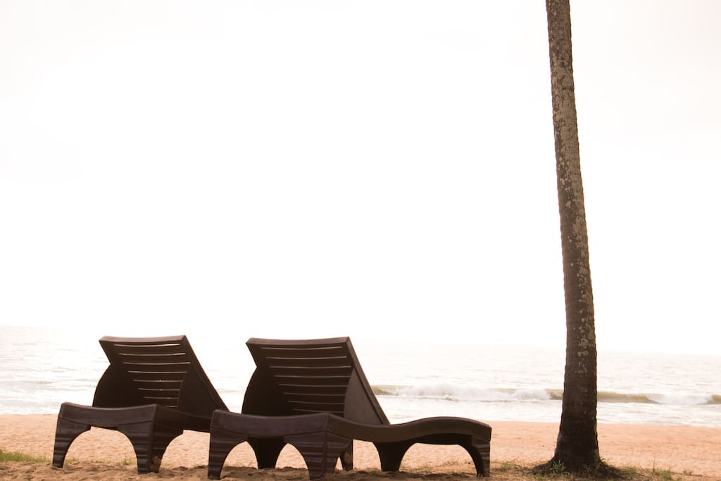 Easy Chairs on the Beach for a Relaxed Time