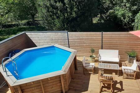 Chambre dans maison avec accès terrasse ,piscine