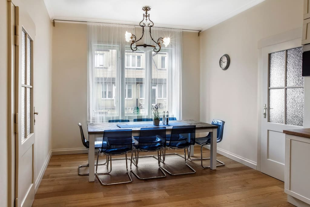Bright dining area in newly renovated...