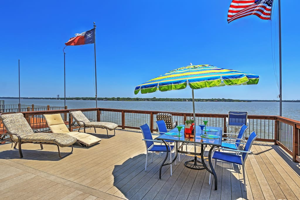 Spend your afternoons lounging on the deck overlooking the water.