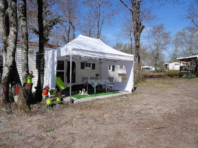 Mobile home dans camping 4 etoiles