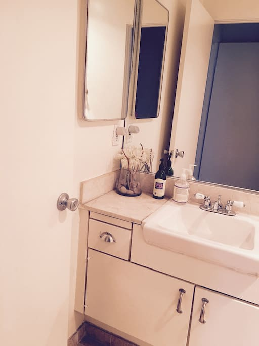 Hall bathroom with shower