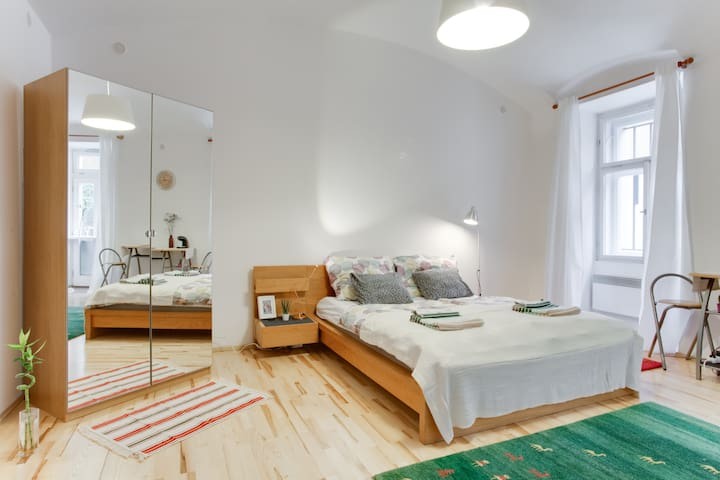 COZY Studio in 15 min WALKING to Old Town Square ! - Прага - Daire