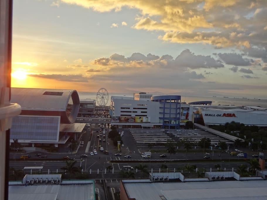 actual views , sunset