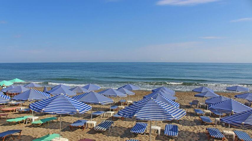 beach in Adelianos Kampos 1 km away