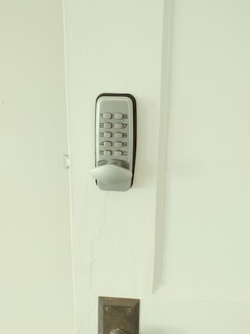 Keyless secure entry to your bedroom.
