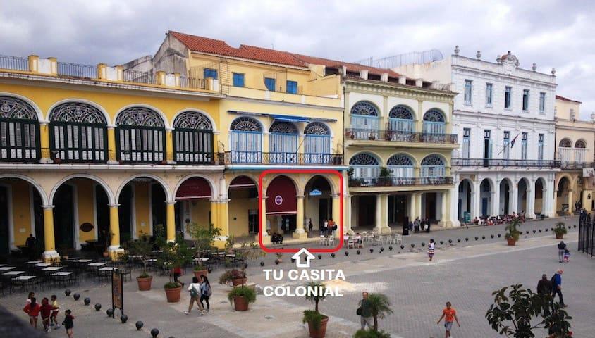 Location in Plaza Vieja / Ubicación en Plaza Vieja
