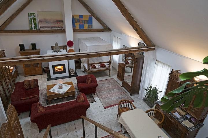 Country Loft in Landhaus mit Innenhof