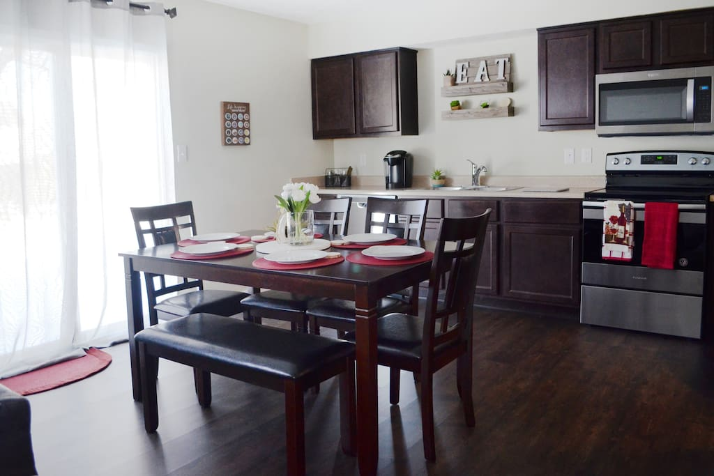 Eat in kitchen with fine dining