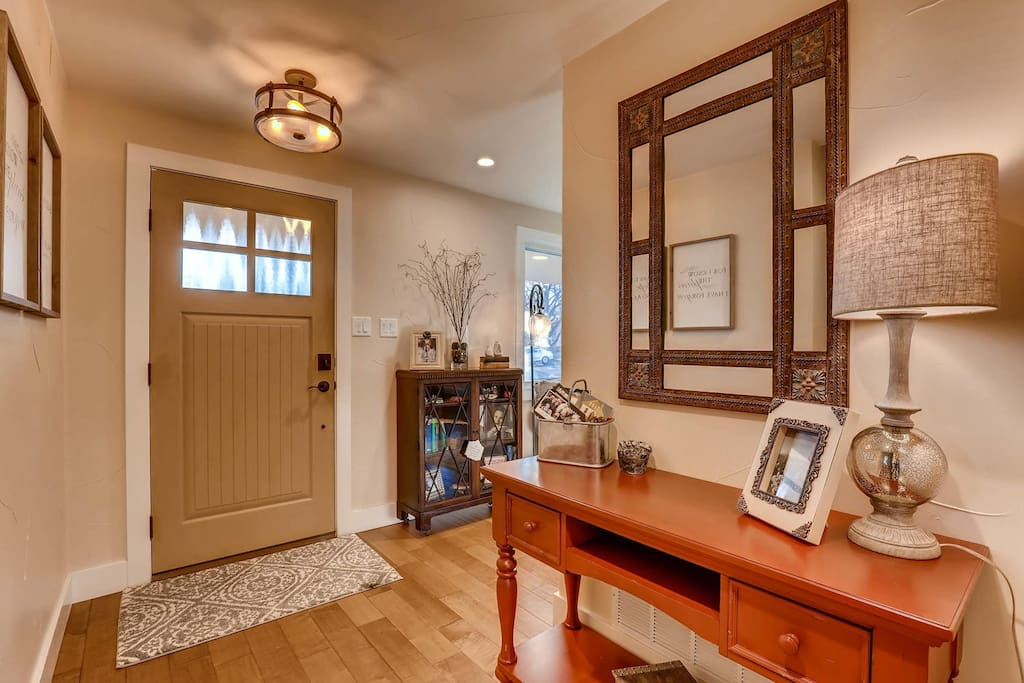 Front door, keyless entry access to the entire home.