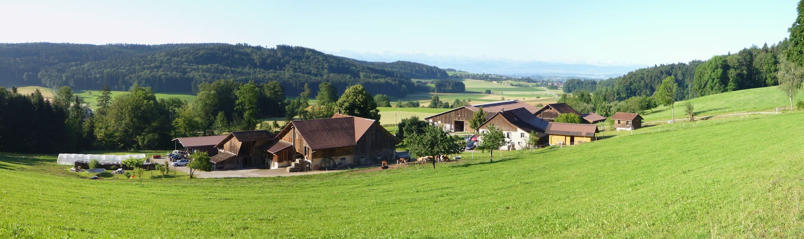 Swissfarm with a great view to the Swissmountains - Russikon - Muu