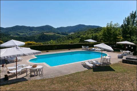 Modernes Ferienhaus in Gubbio mit Pool
